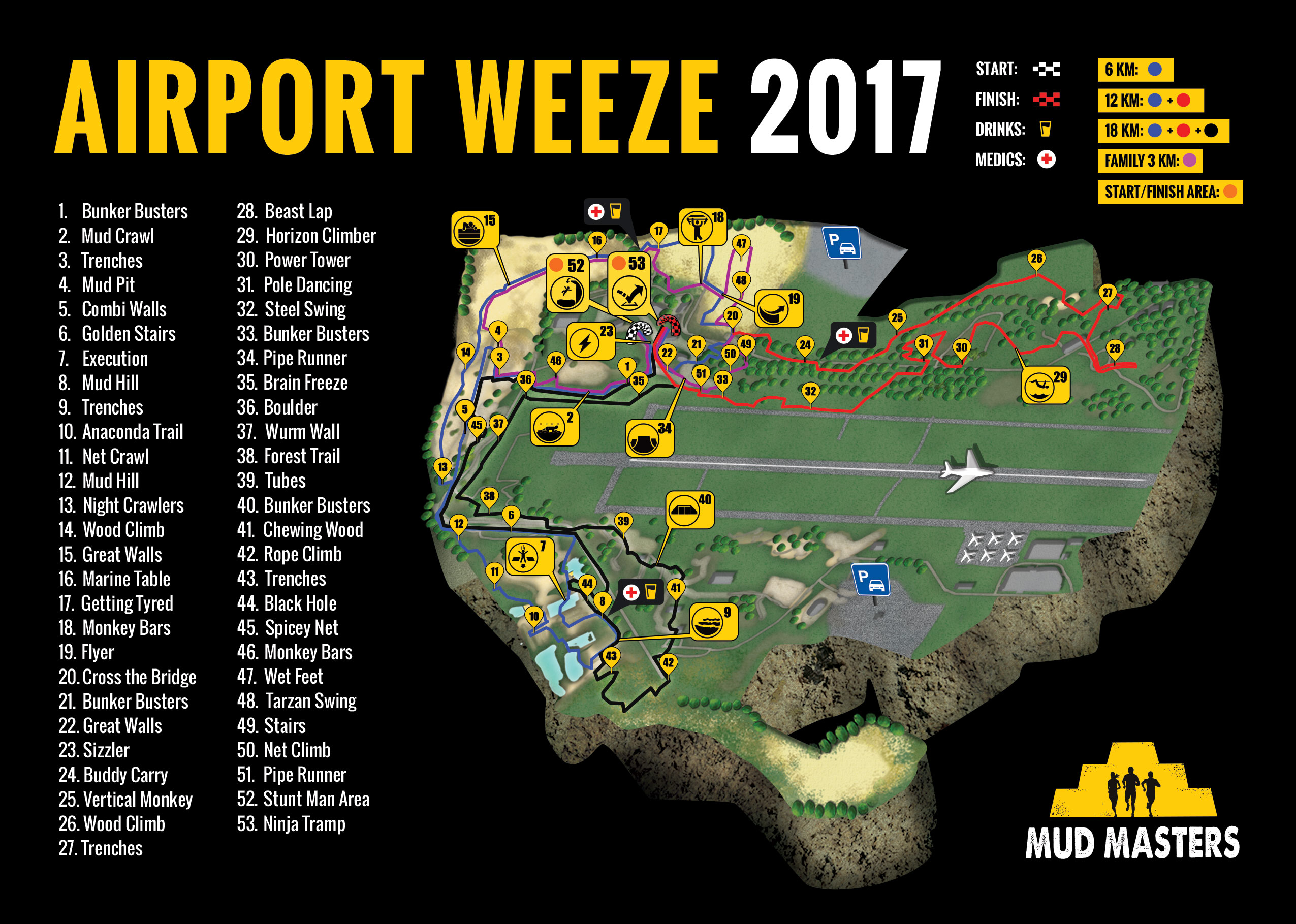 Airport Weeze 2017 - Mud Masters Obstacle Run
